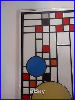 Glassmasters Frank Lloyd Wright Kiln-Fired Art Glass Coonley Playhouse 4x19