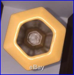 Haeger Studio Art Pottery Frank Lloyd Wright / Arts & Crafts Inspired Gold Vase