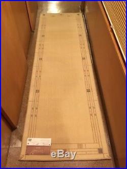 Karastan Wool Area Rug Panel Frank Lloyd Wright Mission Style 2'6 x 8' USA