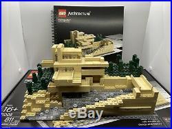 LEGO ARCHITECTURE FALLINGWATER 21005 FRANK LLOYD WRIGHT Box Manual Missing Tree