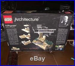 LEGO Architecture Fallingwater 21005 Frank Lloyd Wright 1st Ed Retired Box Tear
