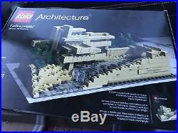 LEGO Architecture Fallingwater Retired Frank Lloyd Wright (21005) in Box, Used