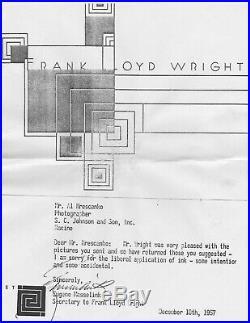 Large, Vintage Frank Lloyd Wright Silver Gelatin Photograph