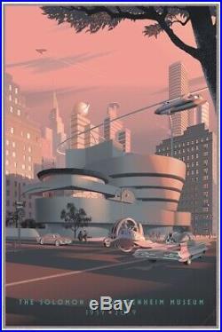 Laurent Durieux Guggenheim Frank Lloyd Wright MONDO limited screen print