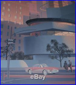 Laurent Durieux The Guggenheim Screen Print Poster Frank Lloyd Wright Art #/350