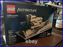 Lego Architecture Fallingwater (21005) Frank Lloyd Wright design. NIB 811 pieces
