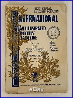 Louis H. Sullivan, International Magazine, September, 1897, Frank Lloyd Wright