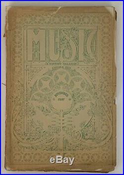 Louis H. Sullivan Music Magazine, Nov. 1897 Frank Lloyd Wright RARE RARE RARE