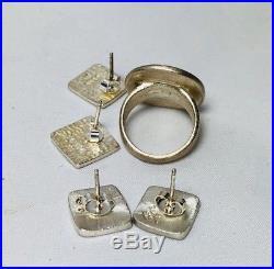 MOMA FRANK LLOYD WRIGHT LORI MCLEAN ENAMEL STERLING SILVER Jewelry Set