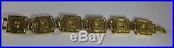 MOMA Museum of Modern Art Frank Lloyd Wright Storer House Gold Link Bracelet
