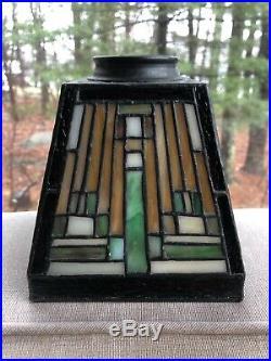 Meyda Tiffany Mission Style Four Lamp Chandelier Frank Lloyd Wright