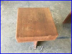 Mid Century Modern End/Side Tables Attributed To Frank Lloyd Wright FLW