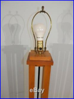 Mid Century Modern Style Cherry FLOOR LAMP Frank Lloyd Wright