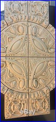 Motawi Tilemakers Complete Armitage Medallion Glaze # 2008 Frank Lloyd Wright