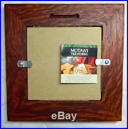 Motawi Tileworks Art Tile Avery Coonley Rug 6 x 6 Framed FRANK LLOYD WRIGHT