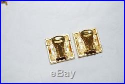 Museum of Modern Art MOMA Frank Lloyd Wright Storer House Gold Earrings