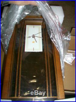 NEW Frank Lloyd Wright Bulova Gale Bookcase Mantel Clock