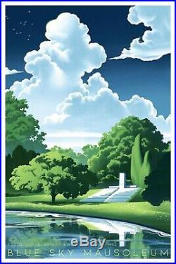 NICO DELORT BLUE SKY MAUSOLEUM PRINT Frank Lloyd Wright xx/150