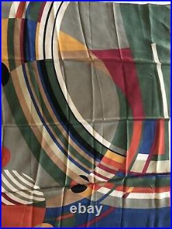 NWT Frank Lloyd Wright Vintage Multi Color 100% Silk Scarf 35x 34.5