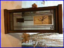 New Bulova B1839 Willits Frank Lloyd Wright Mantel Clock Walnut Finish Clocks