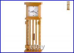 New Frank Lloyd Wright House Wall Clock Home Art Decor Rectangle Wood Pendulum