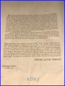 Original Wasmuth Portfolio Frank Lloyd Wright 1910, 1 Of Only 30 Remaining