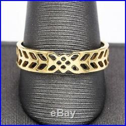 Ortak Frank Lloyd Wright 14K Yellow Gold Art Deco Filigree Band Ring 4.2G Sz12