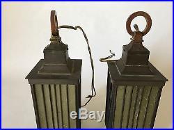 Pair Of Frank Lloyd Wright ORIGINAL Vintage Pendant Lamps