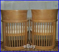 Pair of Frank Lloyd Wright Taliesin Barrel Style Chairs Contact for Shipping