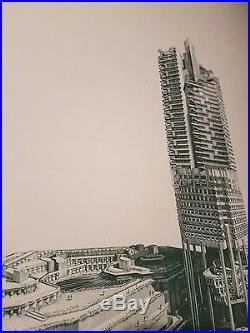 Paul Rudolph Event Poster PAUL RUDOLPH Signature (studied Frank Lloyd Wright)