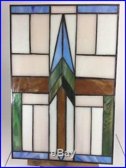 Prairie School Stained Glass Panel- Central Park Daniel Lamp Frank Lloyd Wright