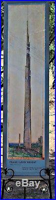 RARE Frank Lloyd Wright Orig 1994 MOMA Poster, The Illinois Cantilever Structure
