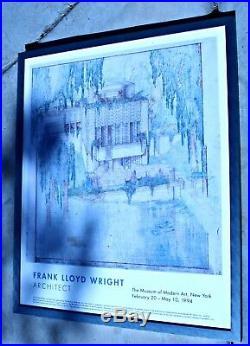 RARE Orig. 1994 Museum of Modern Art Frank Lloyd Wright Millard House Pasadena
