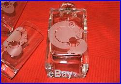 RETIRED FRANK LLOYD WRIGHT Crystal Decanter/HiBall Set FY 2000 NIBs Man CAVE