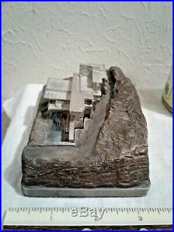 Rare Fallingwater Frank Lloyd Wright Metal Souvenir Building (Edgar Kaufmann)