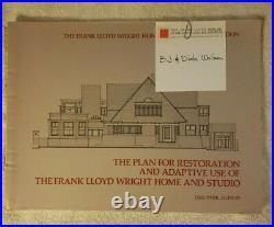 Raredraftfrank Lloyd Wright Home & Studio Plan For Restoration #73/100lqqk