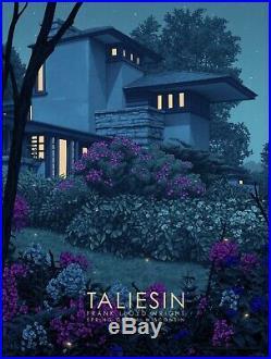 Rory Kurtz Taliesin East GID Variant Frank Lloyd Wright Art Screen Print Poster