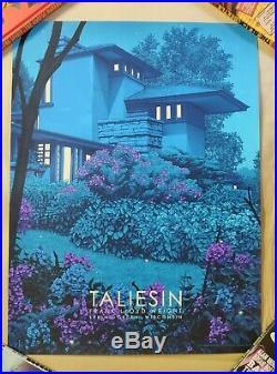 Rory Kurtz Taliesin East GID Variant Screen Print Frank Lloyd Wright'Timeless