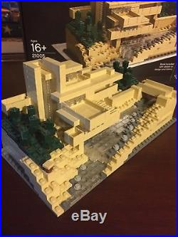 super rare lego architecture frank lloyd wright fallingwater 21005