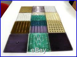 Set Of 13 Glass Prism Tiles Frank Lloyd Wright Flw Transom Window