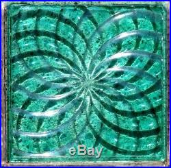 Set Of 16 Glass Prism Tiles Frank Lloyd Wright Flw Patented Transom Window