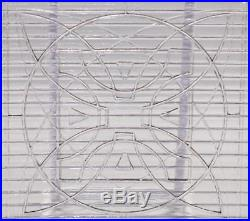 Set Of 5 Architectural Luxfer Glass Tiles Frank Lloyd Wright Design Purple Hue