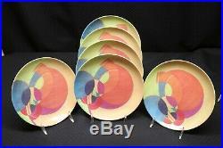 Set of 6 FRANK LLOYD WRIGHT Susan Jacobs Lockhart MOON DREAM 8.5 Salad Plates