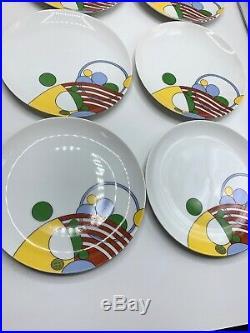 Set of 9 Rare Tiffany & Co 1987 CABARET FRANK Lloyd Wright Dessert/Salad Plates