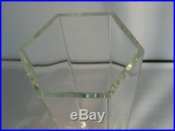 Signed Tiffany & Co Frank Lloyd Wright Foundation Crystal Vase