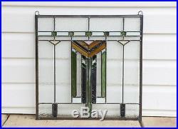 Stained Glass Window Frank Lloyd Wright Inspd Panel Prairie Wheat 20 x 20