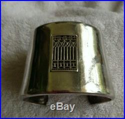 Sterling Silver MoMA Frank Lloyd Wright Cuff Bracelet