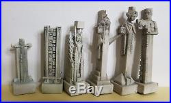 Summit Collection Frank Lloyd Wright Midway Gardens Chess Set Pieces 3-5 Tall