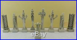 Summit Frank Lloyd Wright Midway Gardens Chess Set 3-5 Tall Each Collectible
