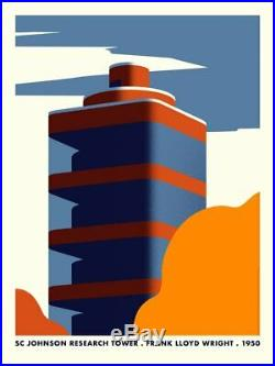 THOMAS DANTHONY SC JOHNSON RESEARCH TOWER PRINT Frank Lloyd Wright xx/150